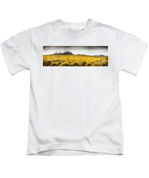 Tasmania Mountains Of The East-west Great Divide  Kids T-Shirt