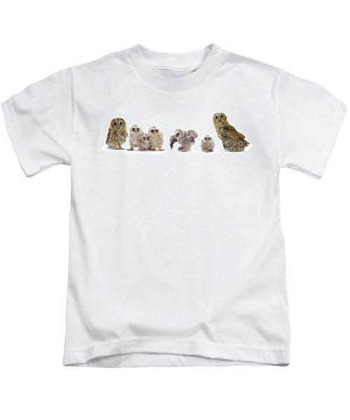 Tawny Owl Family Kids T-Shirt
