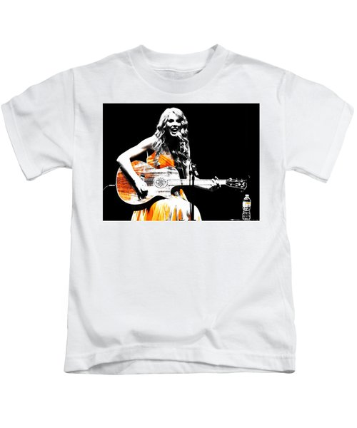 Taylor Swift 9s Kids T-Shirt by Brian Reaves