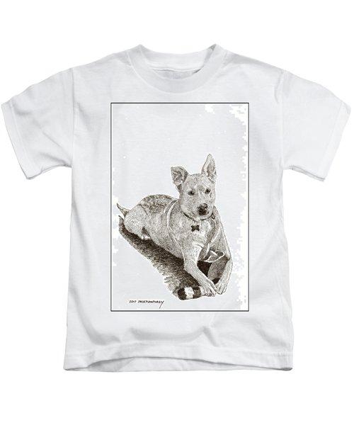 Taz  Rescue Pound Dog Kids T-Shirt