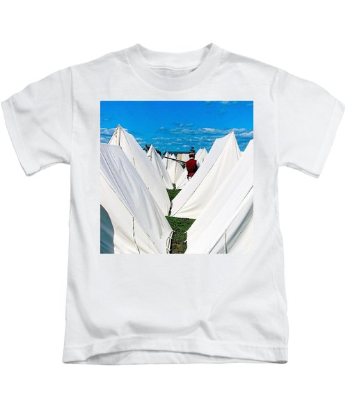Field Of Tents Kids T-Shirt