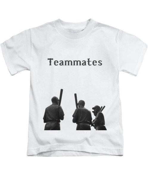 Teammates Poster - Boston Red Sox Kids T-Shirt by Joann Vitali