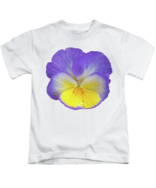 Tears Of Joy - Purple Pansy Kids T-Shirt