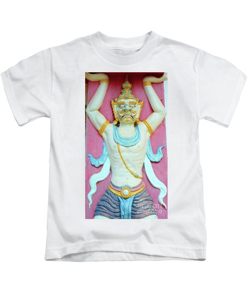 Temple Art In Thailand Kids T-Shirt