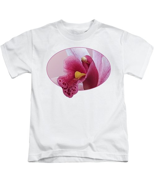 Temptation - Pink Cymbidium Orchid Kids T-Shirt
