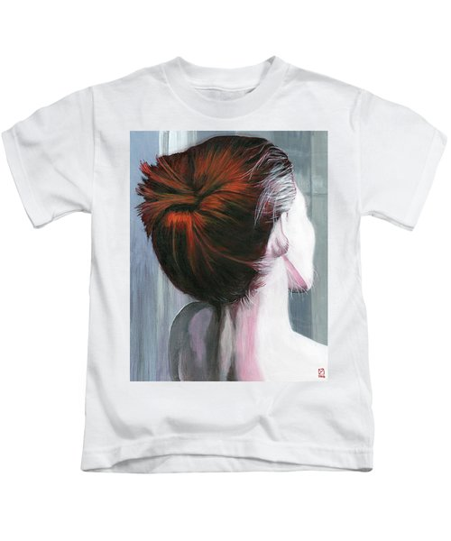 Kids T-Shirt featuring the painting Tender by Matthew Mezo