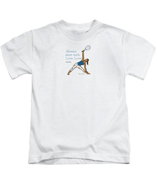 Tennis Pose 2 Kids T-Shirt