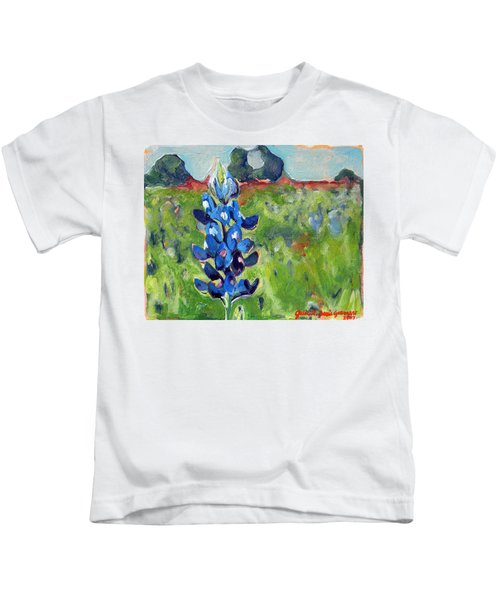 Texas Blue Bonnet Kids T-Shirt
