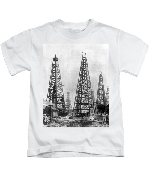 Texas: Oil Derricks, C1901 Kids T-Shirt