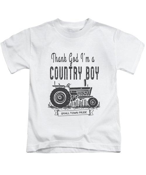 Thank God I Am A Country Boy Tee Kids T-Shirt