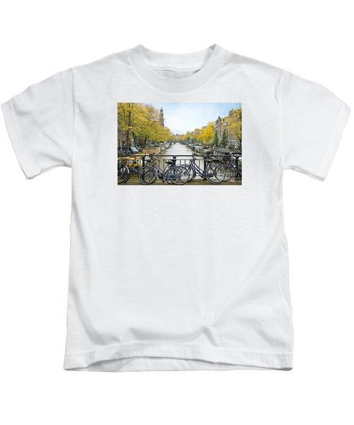 The Bicycle City Of Amsterdam Kids T-Shirt