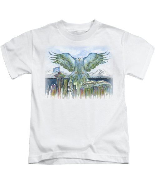 The Blue And Green Kids T-Shirt