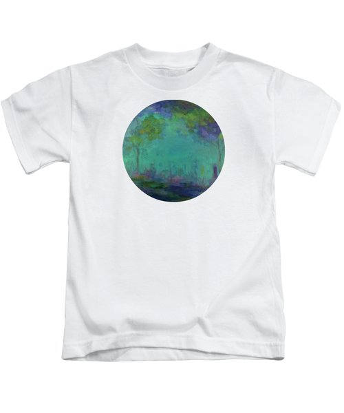 The City In The Distance Kids T-Shirt by Mary Wolf