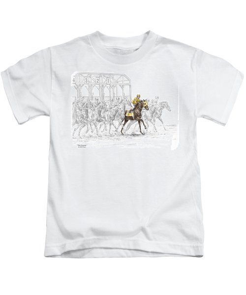 The Favorite - Thoroughbred Race Print Color Tinted Kids T-Shirt