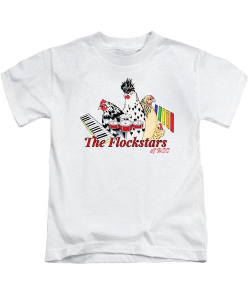 The Flockstars Kids T-Shirt by Sarah Rosedahl
