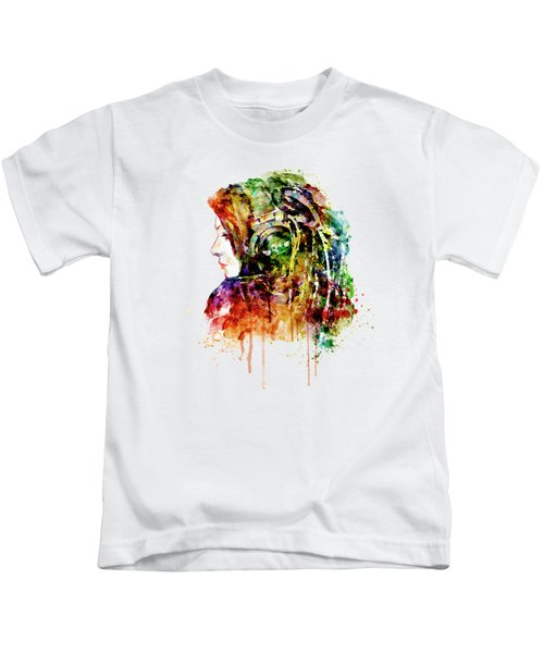The Girl Is A Dj Kids T-Shirt