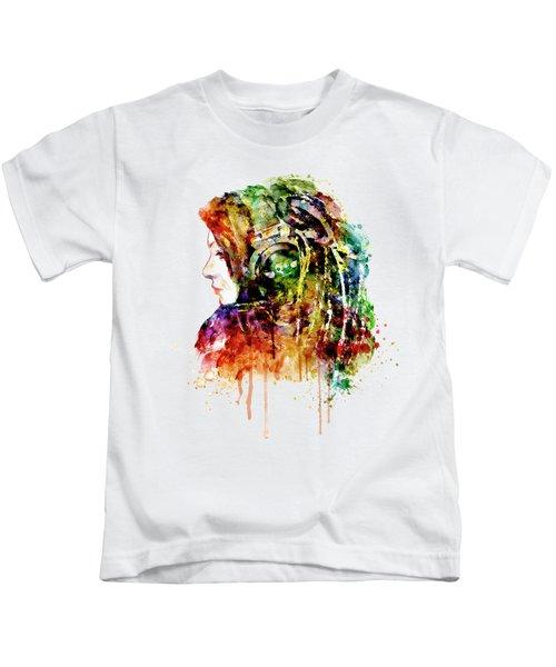 The Girl Is A Dj Kids T-Shirt