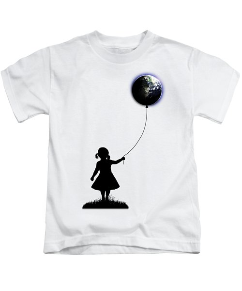 The Girl That Holds The World - White  Kids T-Shirt by Nicklas Gustafsson