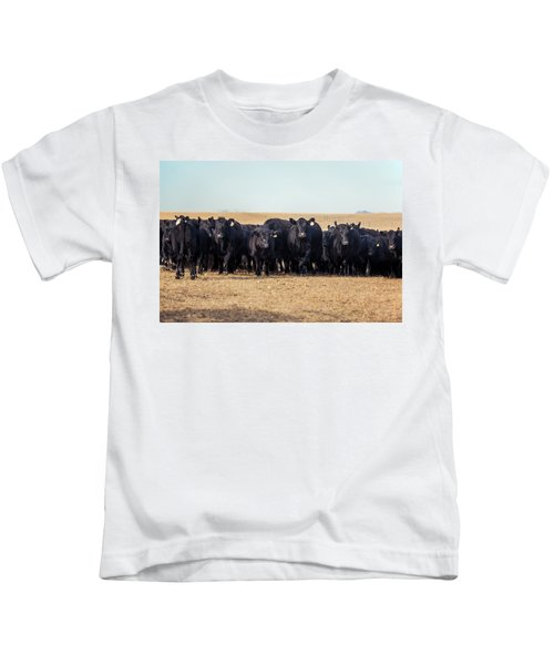 The Herd Rushes In Kids T-Shirt