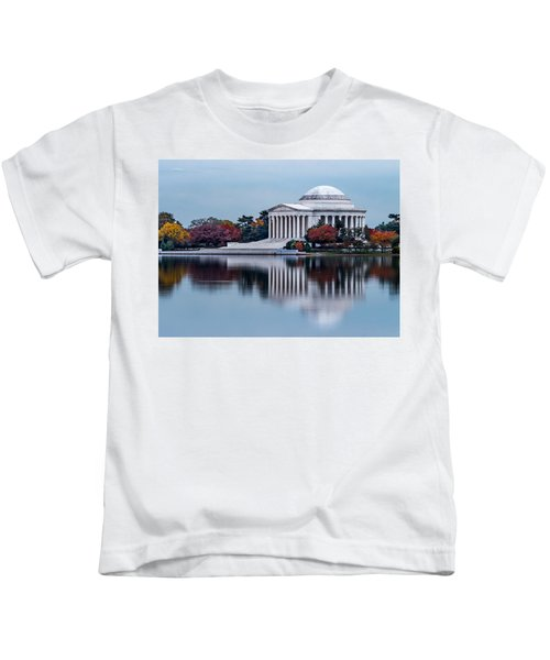 The Jefferson In Baby Blue Kids T-Shirt