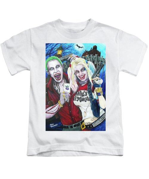 The Joker And Harley Quinn Kids T-Shirt