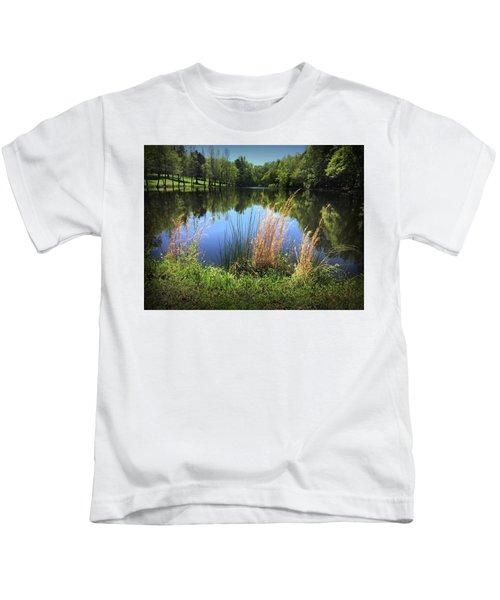 The Lake At Musgrove Mill Kids T-Shirt