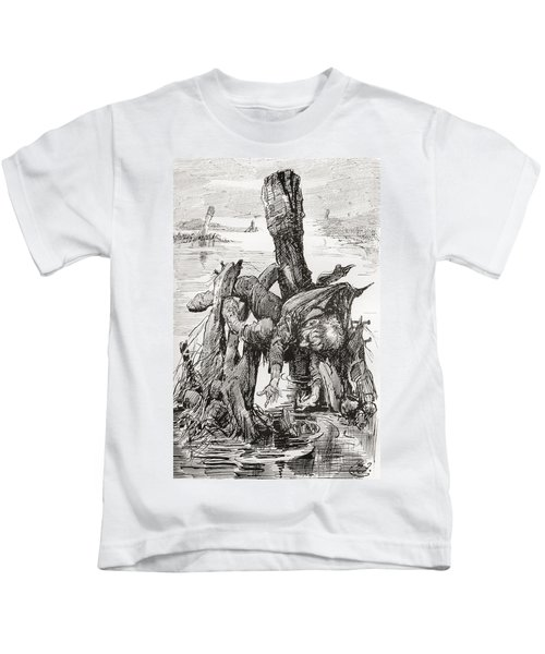 The Last Of Quilp. Illustration Kids T-Shirt
