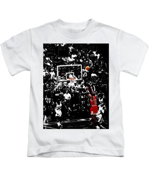 The Last Shot 23 Kids T-Shirt by Brian Reaves
