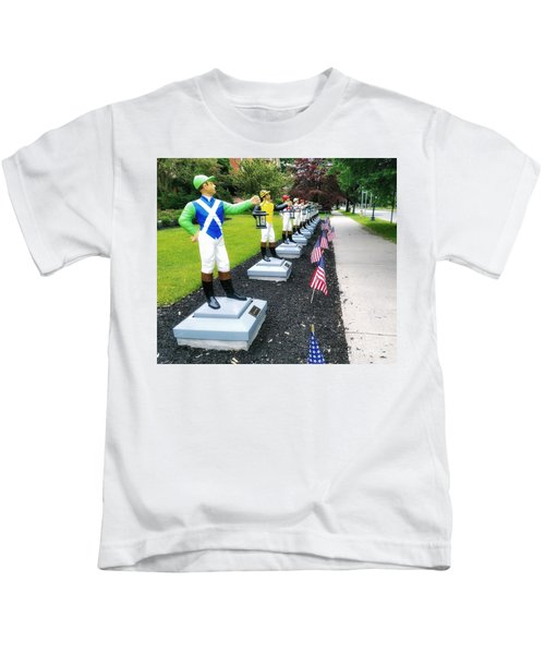 The Lawn Jockeys Of Saratoga Springs Kids T-Shirt