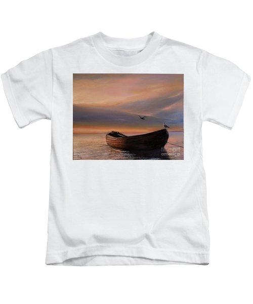 A Lone Boat Kids T-Shirt