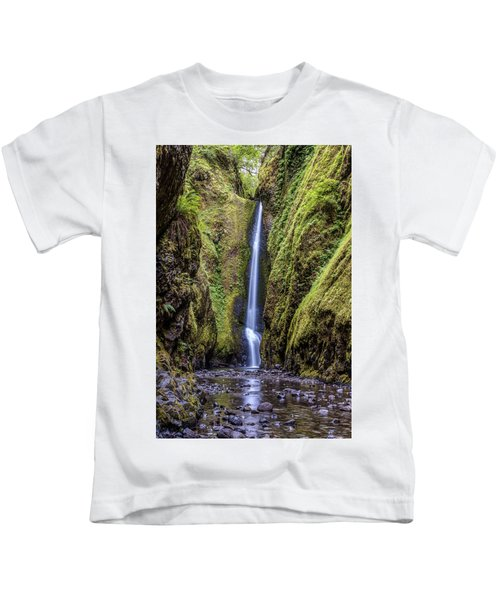 The Lush And Green Lower Oneonta Falls Kids T-Shirt