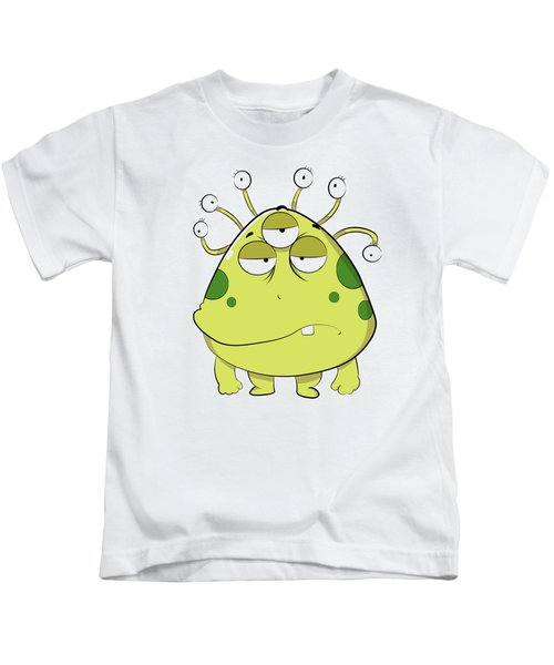 The Most Ugly Alien Ever Empty Background Kids T-Shirt