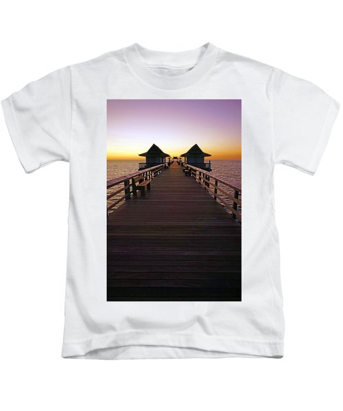 The Naples Pier At Twilight Kids T-Shirt