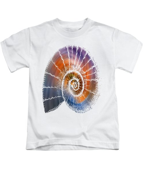 The Nautilus Shell  Transparent Kids T-Shirt