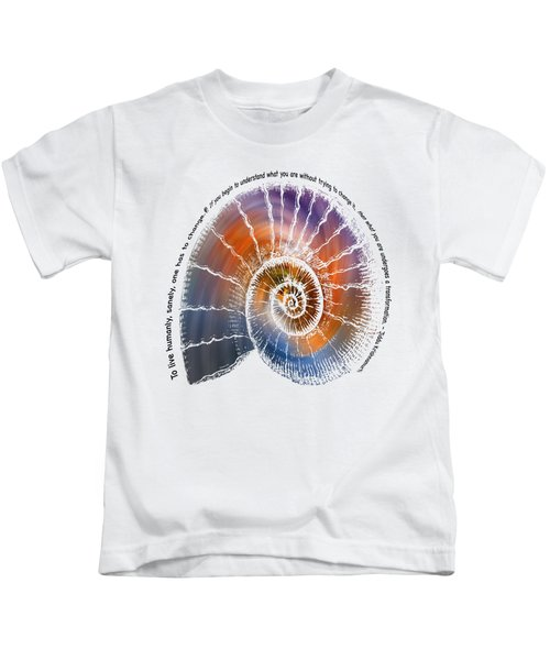 The Nautilus Shell Transparent -  Quote Kids T-Shirt