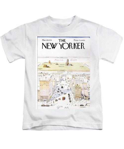 New Yorker March 29, 1976 Kids T-Shirt
