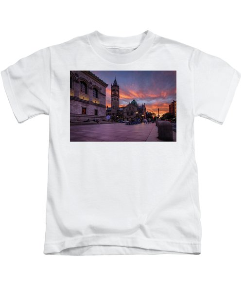 The Old South Church At Sunset Kids T-Shirt