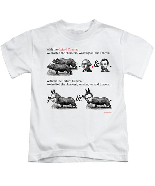 The Oxford Comma Kids T-Shirt