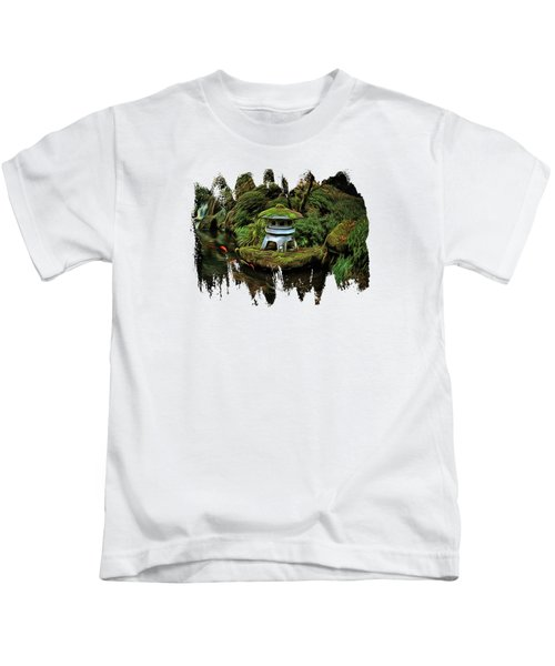 Pagoda And Koi Kids T-Shirt