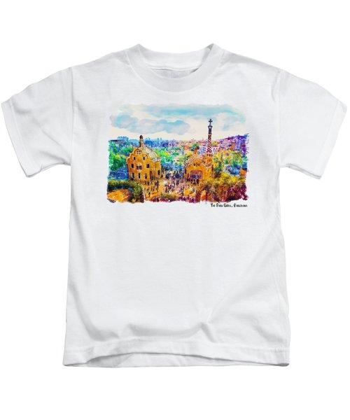 Park Guell Barcelona Kids T-Shirt