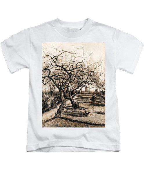 The Parsonage Garden At Nuenen In Winter Kids T-Shirt