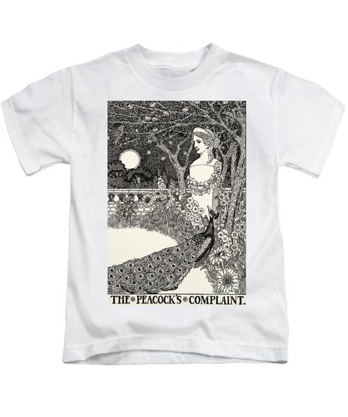 The Peacock's Complaint, From A Hundred Fables Of Aesop Kids T-Shirt