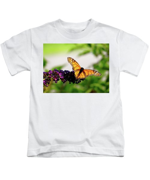 The Resting Monarch Kids T-Shirt