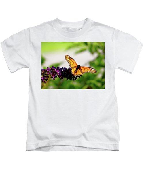 The Resting Monarch Kids T-Shirt