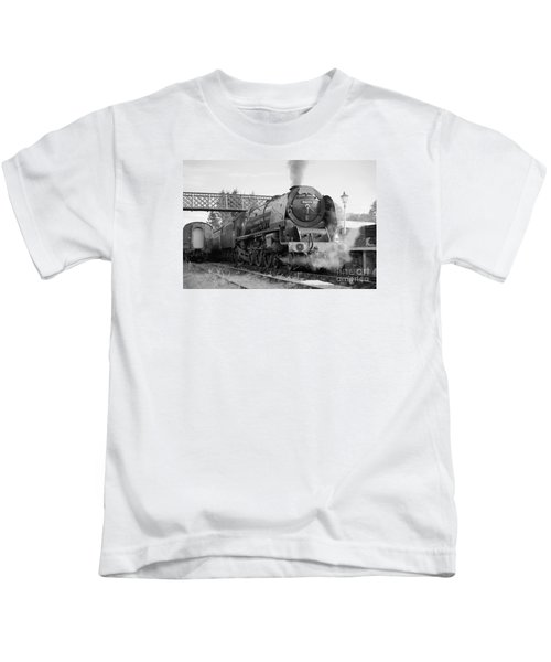 The Royal Scot In Black And White Kids T-Shirt