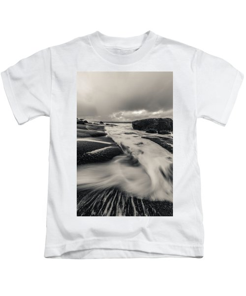 The Rush Of The North Sea Kids T-Shirt