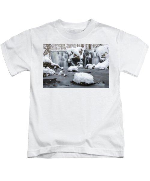The Secret Waterfall In Winter 1 Kids T-Shirt