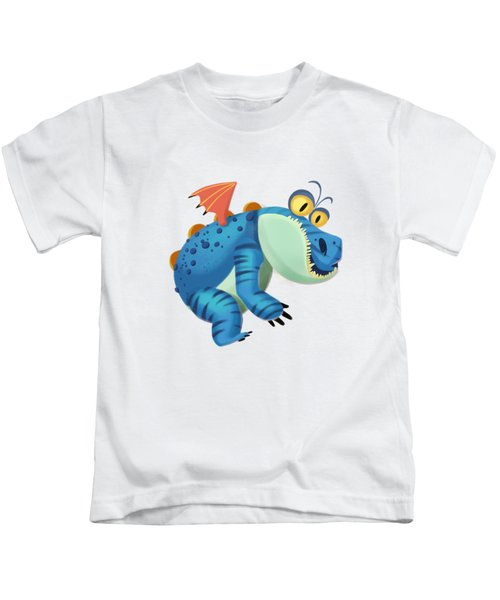 The Sloth Dragon Monster Kids T-Shirt by Next Mars