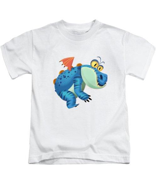 The Sloth Dragon Monster Kids T-Shirt by Next Mars