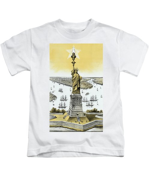 The Statue Of Liberty - Vintage Kids T-Shirt